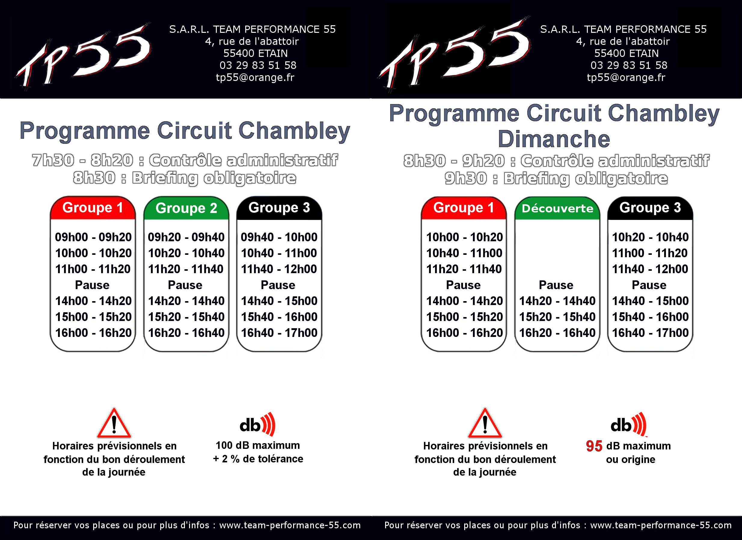 Temps Course Calendrier 2019.Calendrier 2019 Des Journees Moto Tp55